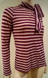 Rykiel à rayures laine rayures mélangée nouées manches à Sonia rouges longues Pull à et en ZHqxBw
