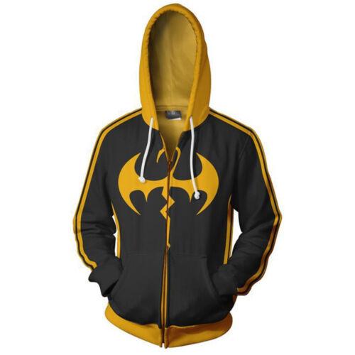 Marvel Comics Iron Fist Reißverschluss Kapuzenpullover Sweatshirts Pullover