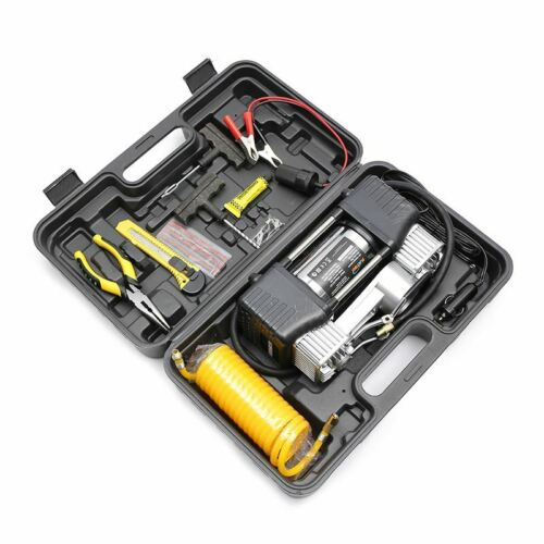 Digital Car Tyre Inflator With Tools Set In Plastic Case