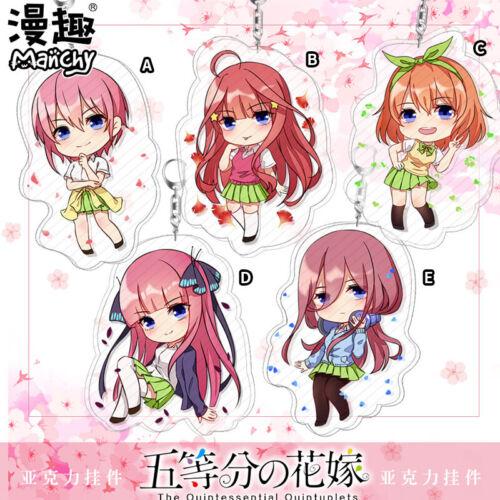 Anime The Quintessential Quintuplets Nakano Miku Acrylic Keychain Keyring Strap