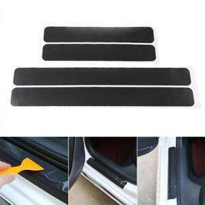 4x Einstiegsleisten Tür Leisten Verkleidung Design Folie + Rakel Carbon Schwarz