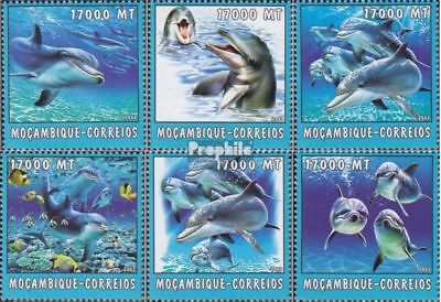 Mozambique 2692-2697 Unmounted Mint Stamps Never Hinged 2002 World Of Marine Mozambique
