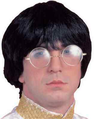 60/'s Mod Beatles Men/'s Dark Brown Fancy dress Costume wig