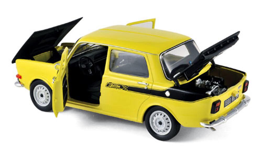 NOREV 1:18 AUTO DIE CAST SIMCA 1000 RALLYE 2 1976 MAYA giallo ART 185708