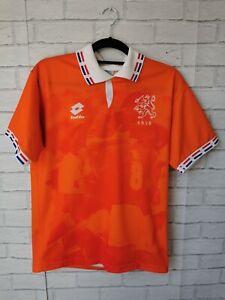 NETHERLANDS 1996-1997 HOLLAND HOME LOTTO ORIGINAL FOOTBALL SHIRT - ADULT MEDIUM