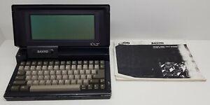 Sanyo 16 LT Vintage Laptop LCD model MBC-16LT2. Double 3,5 inch diskdrive
