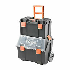 Tood Detachable Rolling Tool Box Organizer Storage Bin Set With Removable Trays