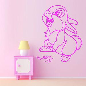 klopfer das kaninchen walt disney vinyl wandkunstaufkleber. Black Bedroom Furniture Sets. Home Design Ideas