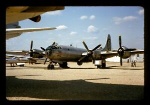 Vtg-1965-Orig-35mm-Slide-BOCKSCAR-B29-Bomber-Aircraft-Nuclear-Fat-Man-WWII