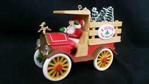 1984 Vintage Hallmark Santa Christmas Ornament. Santa Deliveries!! NIB