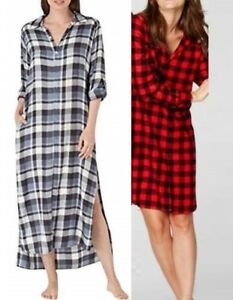 7a15d59c5b Image is loading NWT-TALL-Mens-Extra-Long-FLANNEL-SLEEPSHIRT-Nightshirt-