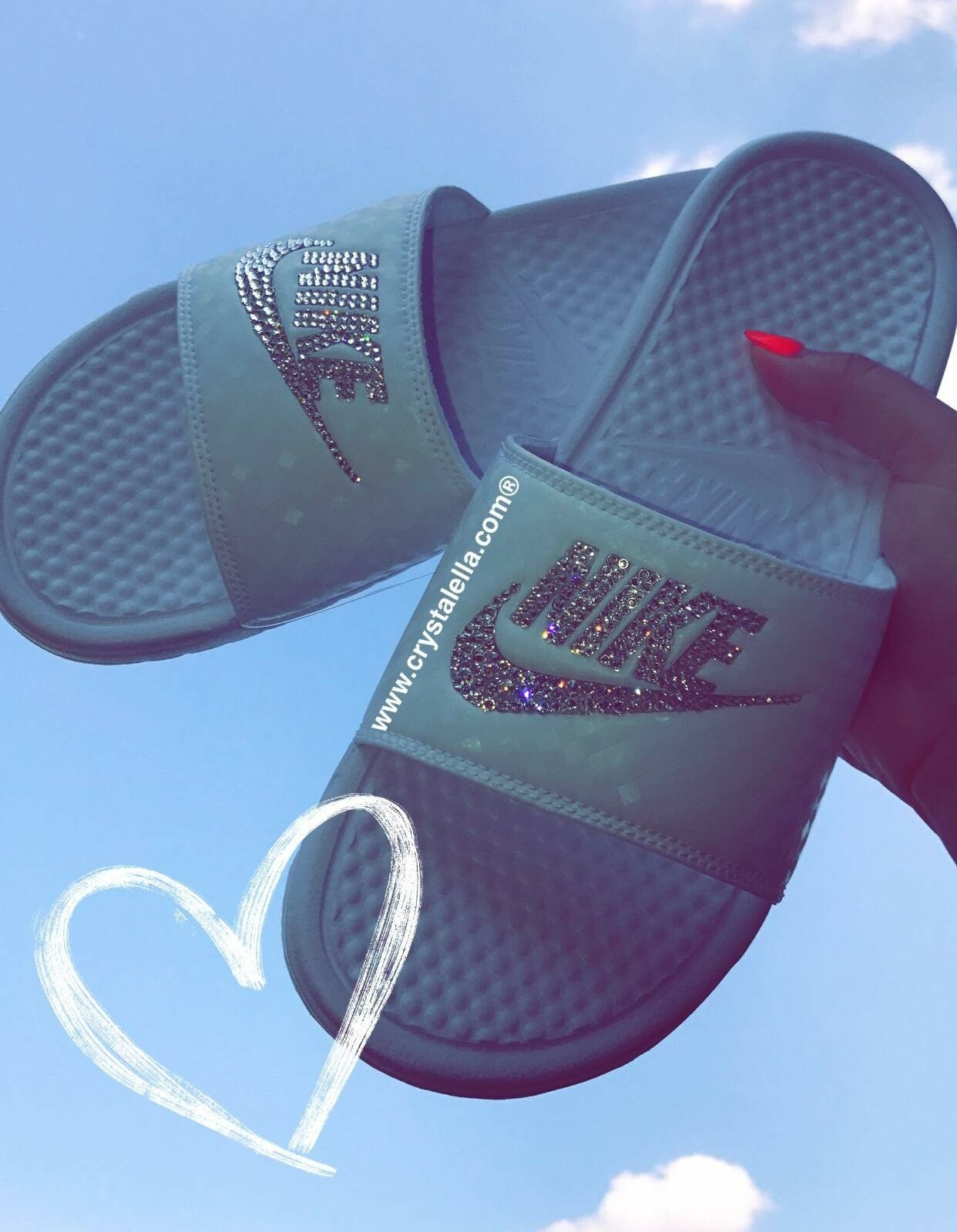 Crystal Nike Benassi Sandales Womans Slides 100% Brand New in Box 100% Slides Authentic Nike cd7d54