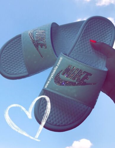 Sandali autentico 100 Benassi New Brand Womans In Nike Slide Crystal Box wpHSEx