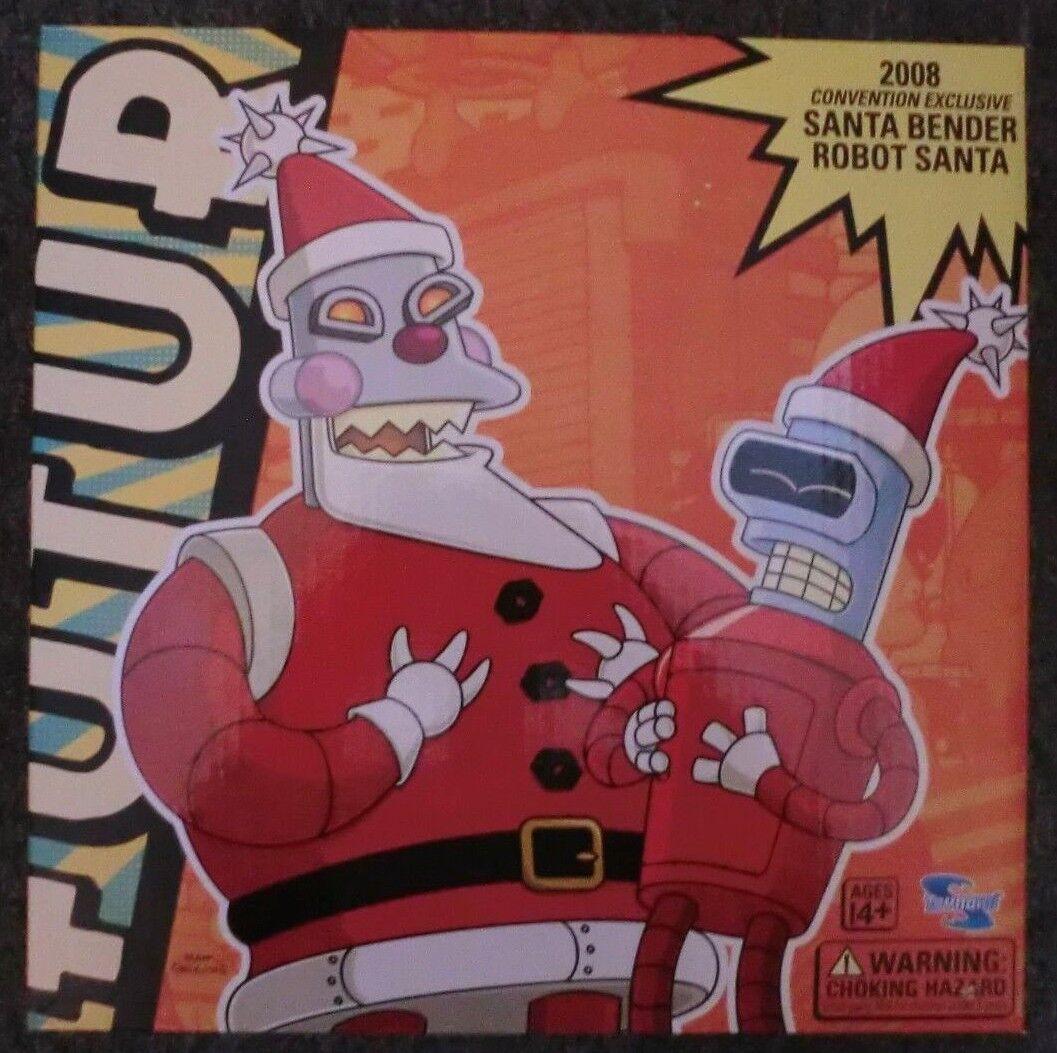 Toynami Futurama 2008 Sdcc Comic con Esclusivo Santa Bender & Robot Bender Nuovo