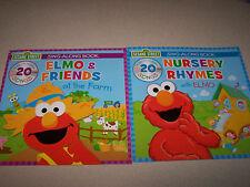 Item 3 Sesame Street Sing A Long Book With Cd Lot Of 2 Elmo Nursery Rhymes Farm
