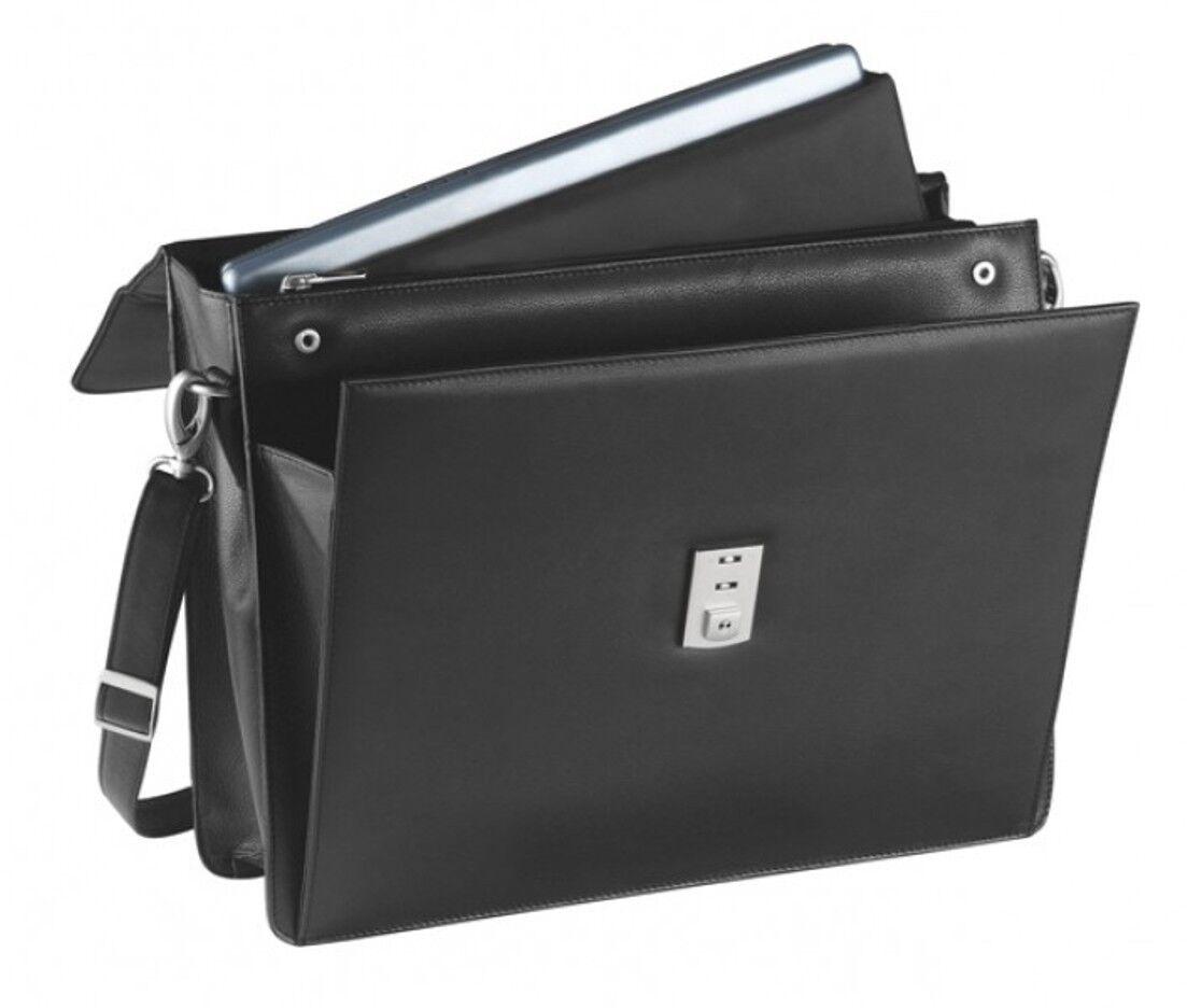 Aktentasche Seta- Seta- Seta- Rindnappaleder, schwarz - von FIHA-Promotion | Überlegene Qualität  | Eleganter Stil  | Ich kann es nicht ablegen  a2536b