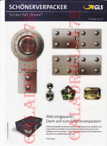 """1 GLS-Sticker-Set /""""cassaforte/"""" regalo-chiusura-sticker decorazione-Tatuaggio Nuovo"""