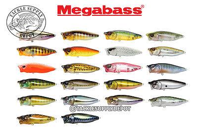 PICK MEGABSS Pop Max Topwater Popper Bass Fishing Lure 3.25in 1//2oz