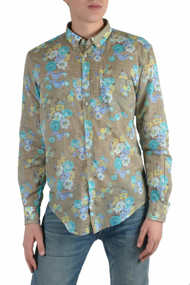 MSGM Men's Multi-color Long Sleeve Dress Shirt US 14.5 15 15.5 15.75 16 16.5