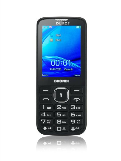 Cellulare dual sim BRONDI DUKE S nero