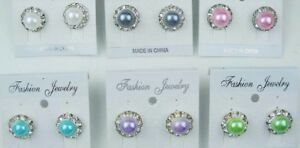 Wholesale-jewelry-Lot-Small-cute-Style-pearls-Colorful-Stud-Fashion-Earring-YW69