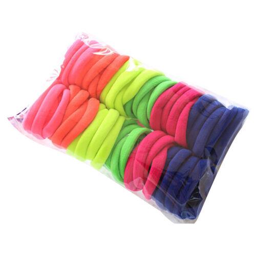 50pcs//set Haarbänder Damen Mädchen Elastische Haargummis Band Seil Pferdeschwanz