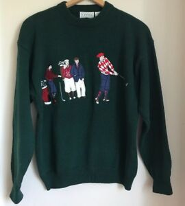 izod-Sweater-Size-Large-Mens-Vintage-Golf-Green-Ugly-80s-Novelty-Party