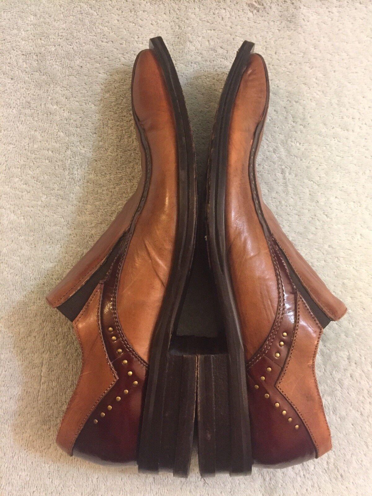 Jo Ghost Marroneee Marroneee Marroneee Burgundy Leather Slip On Pointed Handmade  Sz 40 Us 7-7.5 09aa78