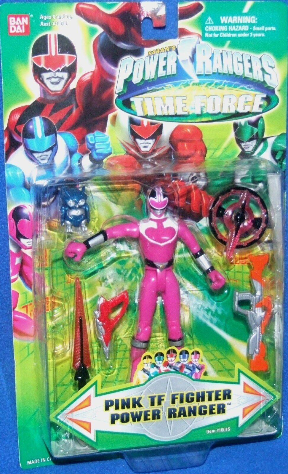Power Rangers Time Force 5  TF Fighter Pink Ranger New Factory Sealed 2001