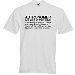 ASTRONOMER-Funny-Men-039-s-T-Shirt-Astronomy-Star-Gazer-Definition-Birthday-Gift