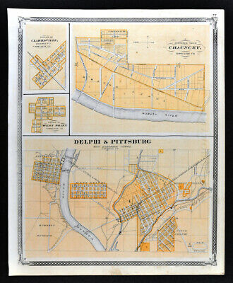 20x28 1876 Louisville KY Vintage Old Panoramic City Map