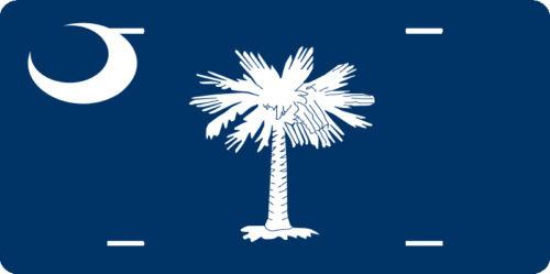 "SOUTH CAROLINA flag full size 6/"" x 12/"" aluminum vanity novelty license plate"