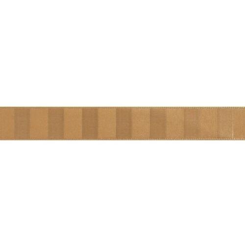 10m Tiger Stripe Lines Berisfords Essentials Ribbon Craft 5m 15mm x 2m