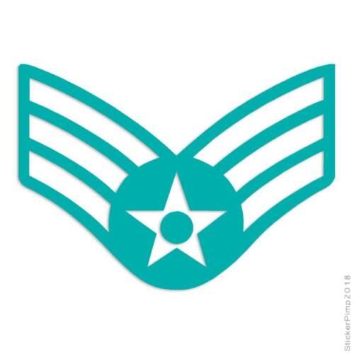 Size #3677 Senior Airman Patch Decal Sticker Choose Color