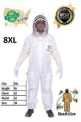 XS Ventilated Bee Suit Body comfort 3layer mesh vented beekeeper fencing veil