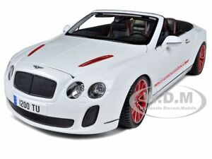 2012 2013 Bentley Continental Supersports Isr White 1 18 Car By
