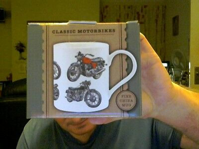 CLASSIC MOTORBIKES MUG AND GIFT BOX GREAT GIFT