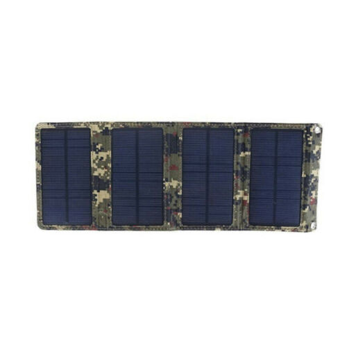 20W Folding Solar Panel Power Bank Outdoor Camping Hiking USB Battery Charger