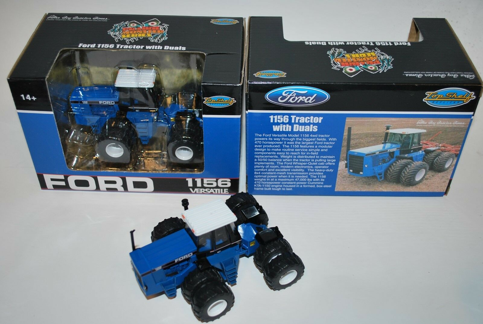 1 64 Ford Versatile 1156 4wd tractor with duals. Toy tractor Times, Great detail