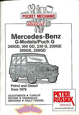 MERCEDES G-WAGEN LONG BOOK GELANDEWAGEN PUCH G300 G280 300GD 280GE 230G G320