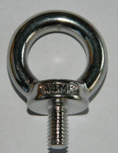 Edelstahl V4A  Ringschrauben M6 DIN580 Ringbolzen Öse Schraube 1 Stk