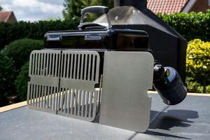 Edelstahl Grillrost und Grillplatte passend für Weber Go Anywhere