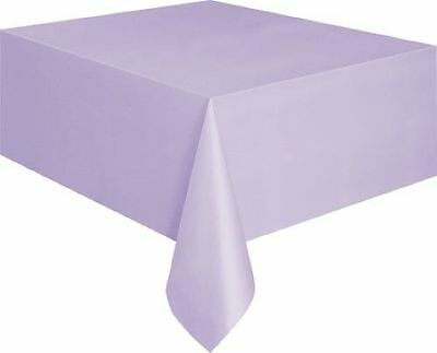 Plastic Tablecovers Table Cloth Cloths Rectangle Oblong 22 Colours Wedding