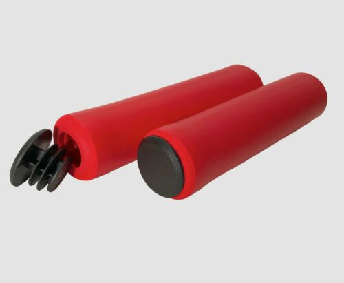 Red Sponge Bike Handle Bar Grips for BMX MTB Sponge Bicycle grips with End Caps