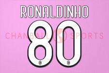 Ronaldinho #80 2009-2010 AC Milan Homekit Nameset Printing