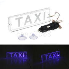 Blue LED Taxi Light Modified Car Light No Conversion Needed & Cigarette Lighter