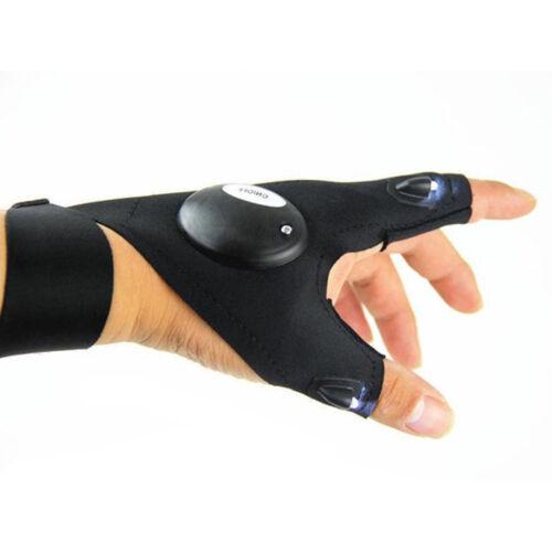 Hot LED Light Finger Lighting Gloves Auto Repair Outdoors Flashing Artifact N7