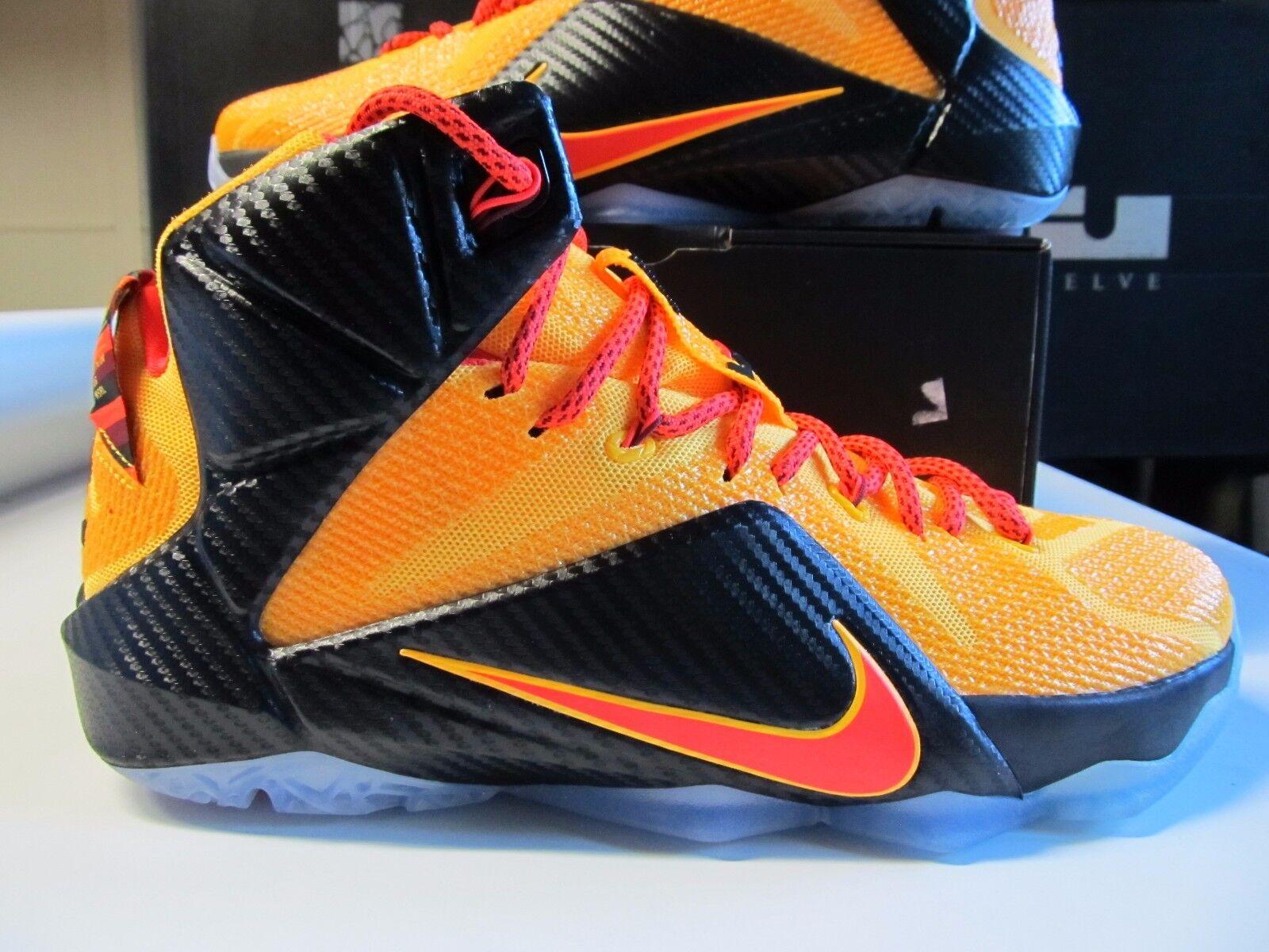 Nike Lebron XII 12  200 CLEVELAND WITNESS Laser orange Crimson 684593 830 Cavs