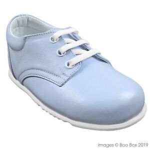 96c7512e7c422 Spanish Style Pex Leather Blue Lace Up Walking Shoes Toddler Boys UK ...