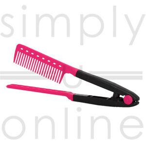 V-COMB-DIY-Salon-Hairdressing-Styling-Hair-Straightening-Care-Straightener